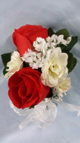 1 new red corsages custom wedding party groom prom homecoming Christmas