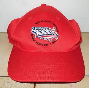 cde6fc3e64d Vintage Super Bowl 36 XXXVI Hat Cap Patriots Rams New Orleans ...