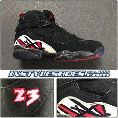 Nike Air Jordan 8 VIII 13 Playoffs Black True Red OG 1993 VTG Rare  130169-060   eBay