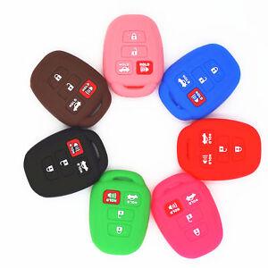 1pc-Silicone-Smart-Remote-4-Button-Key-Cover-Chain-Case-for-Toyota-Camry-Corolla
