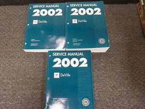 2002 cadillac deville sedan shop service repair manual 3 vol set dhs rh ebay com 2002 cadillac escalade repair manual download 2002 cadillac sts manual