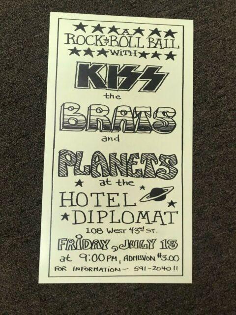 Kiss 1973 Hotel Diplomat Handbill Cardstock Concert Poster - 10