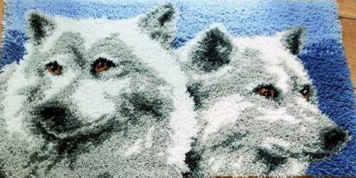 Hazlo tú mismo Lobos Lobo espíritu animal hacer su propio Alfombra De Gancho De Cierre Regalo único reino unido