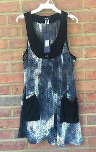 Lily-by-Firmiana-Open-Knit-Bohemian-Sleeveless-Dress-Long-Tunic-Top-Size-Small