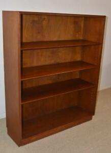 Modern-Danish-Teak-Three-Adjustable-Shelves-Bookcase-Attributed-Jens-Risom