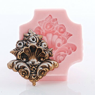 Silicone Scroll Medallion Mold Cake Decorating Mold Food Safe Fondant Candy (720