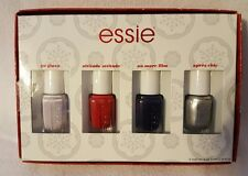 Essie Holiday 4 Pack Mini Nail Lacquer/Polish - Pink/Red/Black/Silver