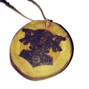 Thors-Hammer-Viking-Norse-Wooden-Charm-Pendant-Necklace-Pendant-Charms-Thor