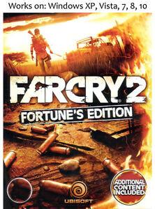 Far Cry 2 Fortune S Edition Pc Win Xp Vista 7 8 10 More Games In