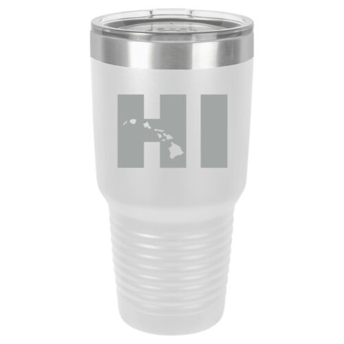Tumbler 20oz 30oz Travel Mug Cup Vacuum Insulated Stainless Steel HI Hawaii
