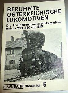 Chemin-Fiche-D-039-Information-6-Celebres-Autrichien-Locomotives-1E-280-380-HJ3-A