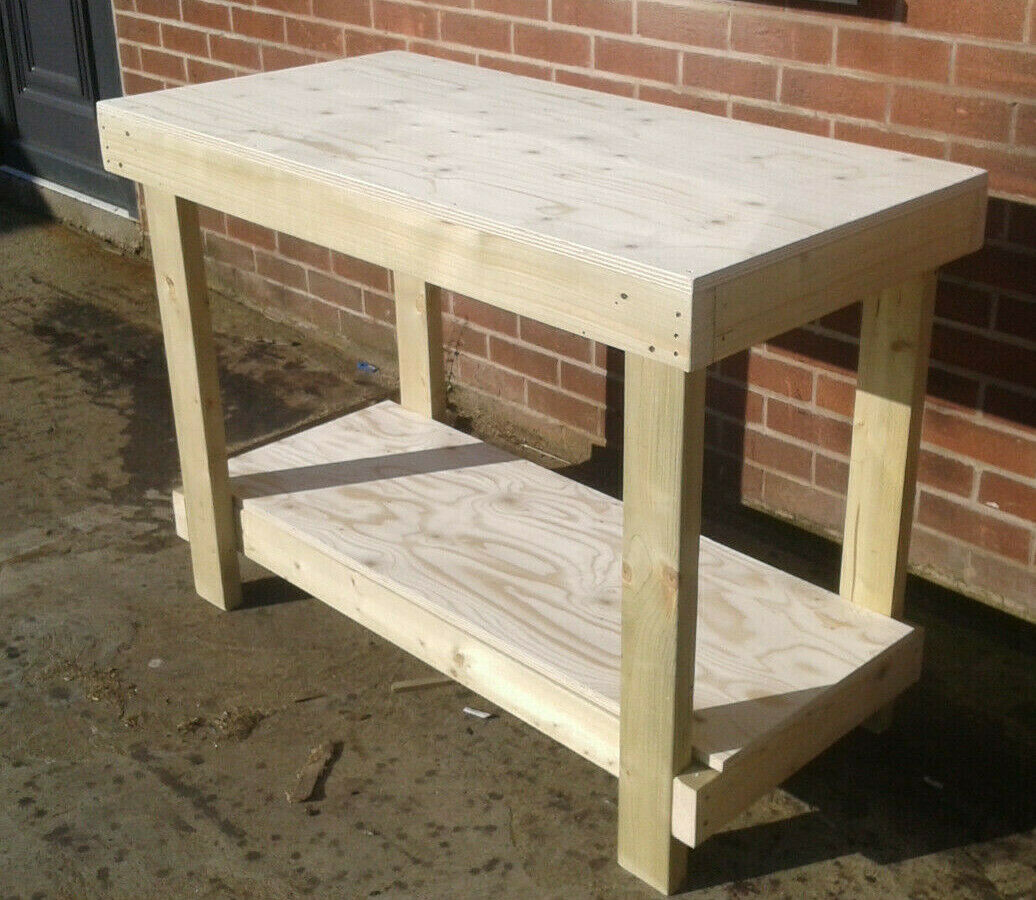 BULK 4 x 4ft Plywood Worktop Sturdy Wooden Workbench - Free Delivery