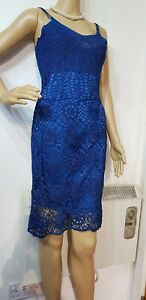 NEW-KAREN-MILLEN-FITTED-KNITTED-SIZE-2-UK-10-US-6-BLUE-100-SILK