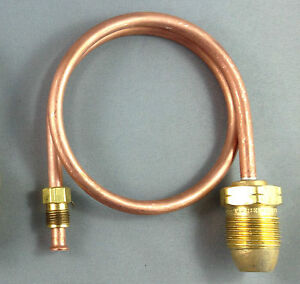 Caravan-Motorhome-RV-1-4-034-1000mm-Copper-Pigtail-POL-Male-to-1-4-034-Inverted-Flare