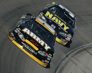 Both Winners 8x10 Great Photo It/'s Army vs Navy in an Exciting Nascar Race