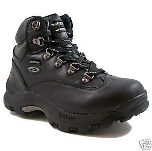 Détails sur Enfants Garçons Hi Tec Chaussures Imperméable Randonnée Taille UK 11 Black