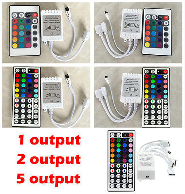 3//24//44 Keys IR//RF Remote Dimmer Controller Connector 12V for 5050 RGB LED Strip