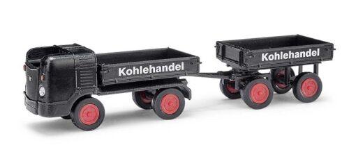 Busch 210008100-1//87//h0 Multicar m21 /& remolques-kohlenhandel-nuevo