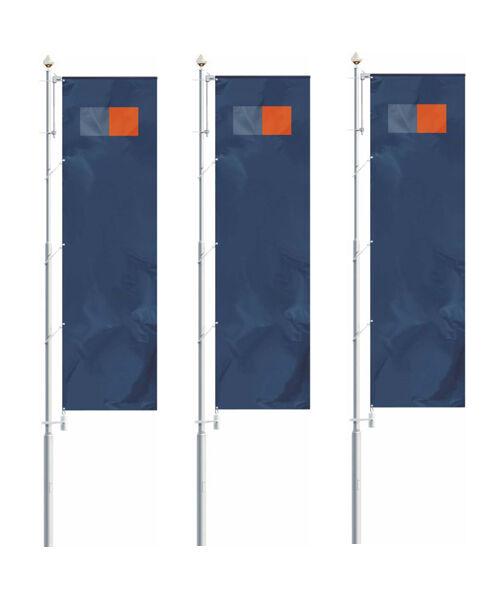 Fahnenmast Fahnstange Flaggenmast ALU ALU ALU Masten 10M Flagpole NEU Flagstange kippfuß 41aeee