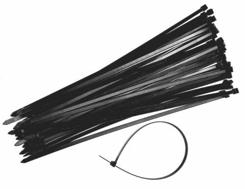 0,07 €//ST-Fascette per cavi 7,8x370mm Cavo Reggicalze 500st NERO