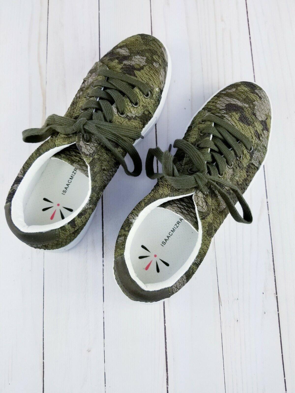 Isaac Mizrahi Live! Soho Matelassé Camouflage Imprimé à Lacets Baskets-Taille 8 M