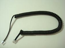 Antique Western Electric telephone coiled cord Black Stromberg Carlson  500, ITT