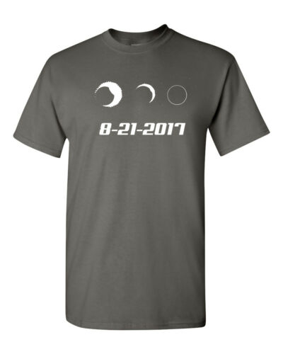 Solar Total Eclipse Moon Sun Phases August 21 2017 Men/'s Tee Shirt 1650