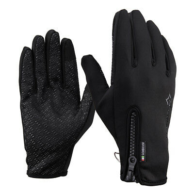 RockBros Winter Long Full Finger Fleece Thermal Warm Gloves Touch Screen Gloves