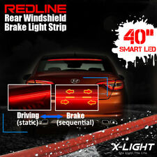 36 red led suv car rear window mount roofline brake tail stop flexible red led suv car rear window mount roofline brake tail stop light tape aloadofball Choice Image