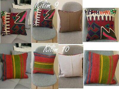Authentic 100/% WOOL Handmade in Turkey Turkish Eastern Kilim Cushion Cover
