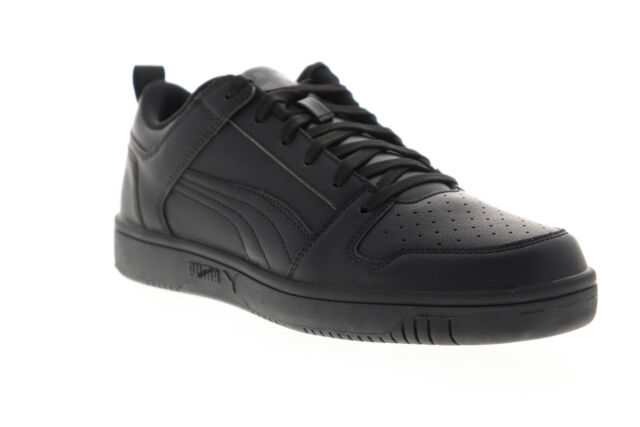 Puma Rebound LayUp Lo SL 36986604 Mens Black Lace Up Low Top Sneakers Shoes 13