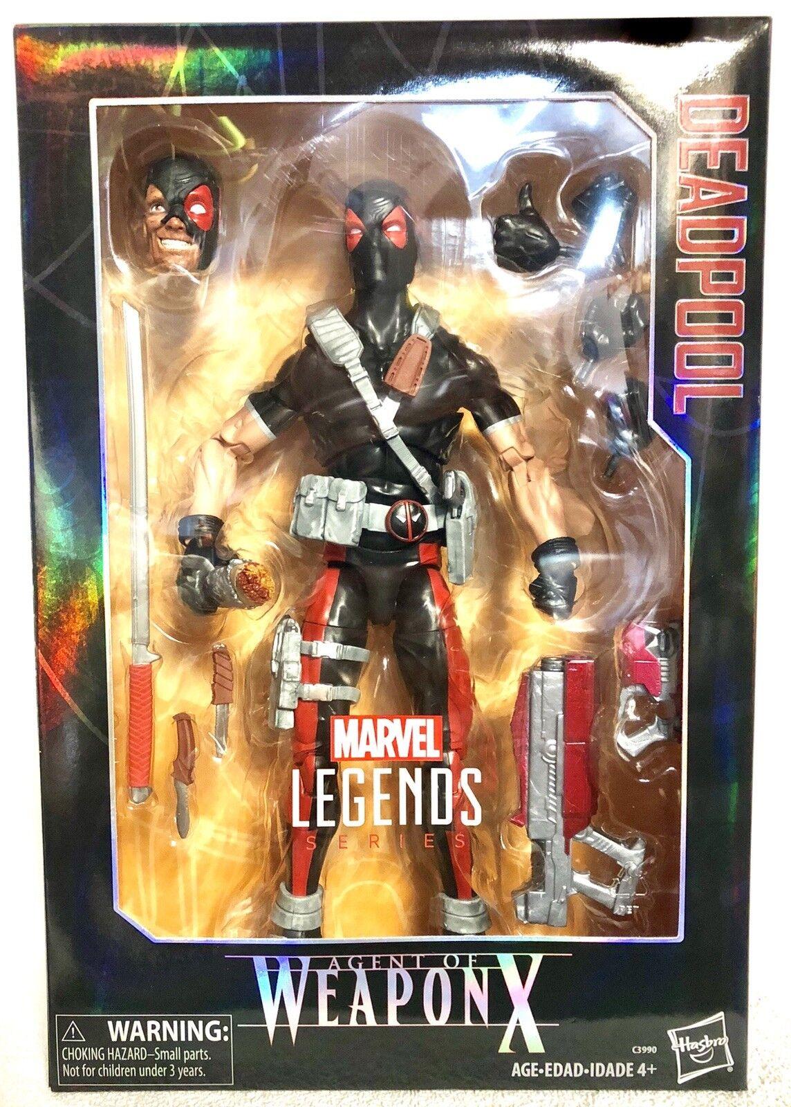 Marvel - legenden fr deadpool deluxe - actionfigur agent waffe x