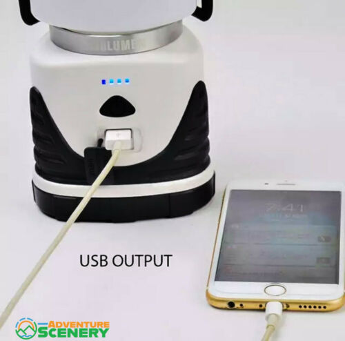 USB Rechargeable LED Camping Lantern Outdoor Tent Light Lamp Power Bank 5400Mah