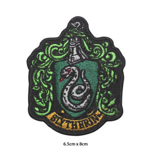 Harry-Potter-Slytherin-Embroidered-Patch-Iron-on-Sew-On-Badge-For-Clothes-etc