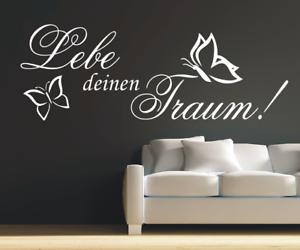 X3371-Wandtattoo-Spruch-Lebe-deinen-Traum-Sticker-Wandaufkleber-Aufkleber