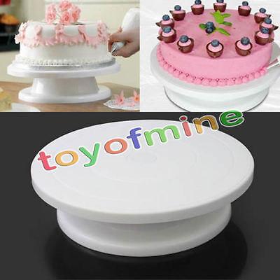 "11"" Rotating Revolving Decorating Stand Cake Turntable Platform"