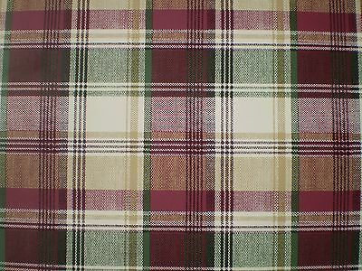 Cranberry, Green, Beige & Cream Plaid Wallpaper   by Beacon House  78-57872