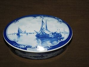 "VINTAGE 7"" ACROSS DROSTE HOLLAND WINDMILL  SAILING SHIP CANDY  TIN CAN *EMPTY*"