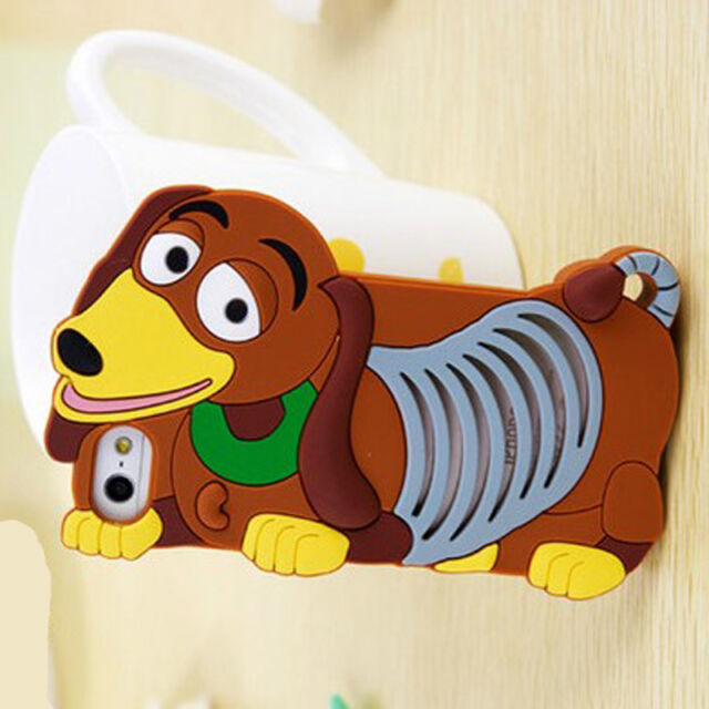 Lovely 3D Cute Cartoon  Soft Silicone Cover Case For  Iphone 4/4S /5G