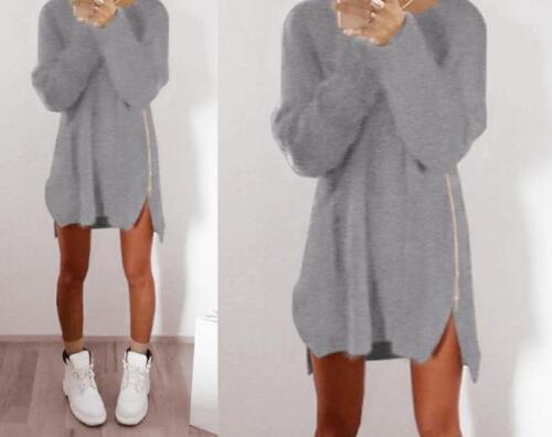 Damen Pullover Sweatshirt Cardigan Sweater Strickjacke Pulli Winter Hoodie S-4XL
