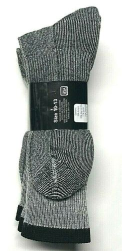 Boot Sock Size10-13. 3 Pair Men/'s Gray Merino Wool Cushioned Bottom Work