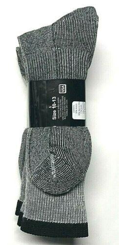 Boot Sock Size10-13. 3 Pair Men/'s Gray Merino Wool Cushioned Bottom Work