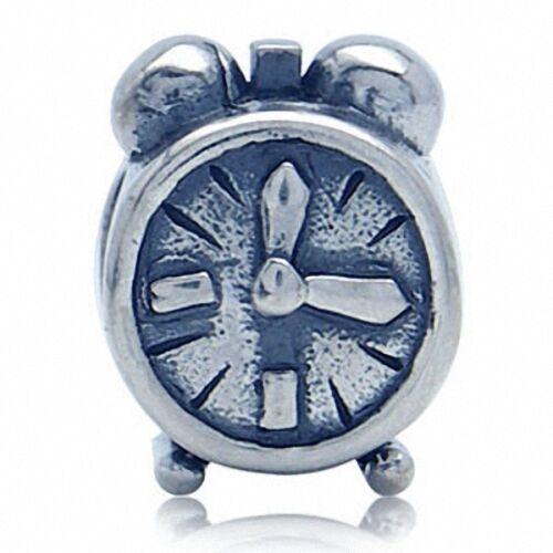 AUTH Nagara ALARM CLOCK 925 Sterling Silver European Charms Bead