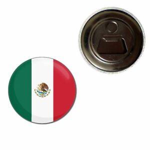 55mm Fridge Magnet Bottle Opener BadgeBeast Mexico Flag