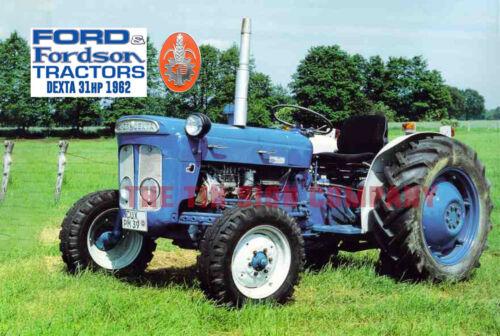 FORDSON DEXTA 31hp 1962 SIGN GREAT FOR FARM GARAGE WORKSHOP MAN-CAVE ETC.