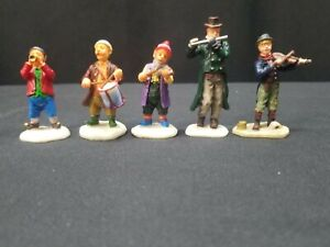 Lemax Village Collection - 5 VILLAGE MUSICIANS Lot 5