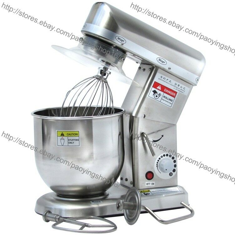 7 L Heavy Duty Stainless Steel Electric Kitchen Food Comptoir Stand Mixer