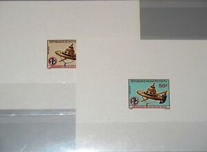 Upper-Volta-obervolta-1975-601-02-382-3-Deluxe-agricultura-sombrero-de-paja-azada-mnh