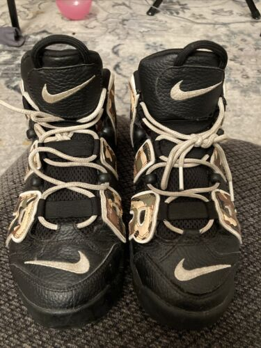 Nike Black And Camouflage Uptempo