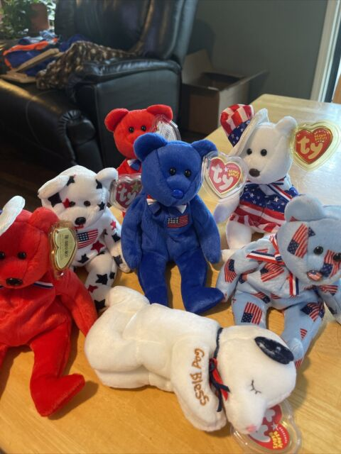 TY Beanie Baby - Union, John, Thomas, Glory, Red Sam, Blue Sam, American Blessin